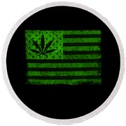 United States Of Cannabis Round Beach Towel