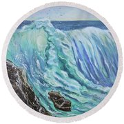 Unstoppable Force Round Beach Towel