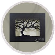 Until Leaves Fall Round Beach Towel