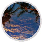 Upward Look Round Beach Towel