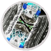 Urban Tracks Round Beach Towel