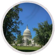 Us Capitol Round Beach Towel