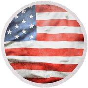 Usa Grunge  Round Beach Towel