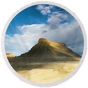Utah Butte Round Beach Towel