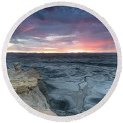 Utah Desert Sunrise Round Beach Towel