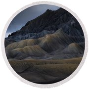 Utah Mountainside Round Beach Towel