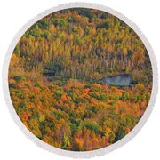 Round Beach Towel featuring the photograph Valley From The Summit Of Mount Greylock by Raymond Salani III