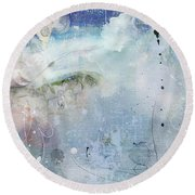 Valley In The Clouds Round Beach Towel