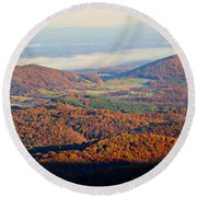 Round Beach Towel featuring the photograph Valley View by Candice Trimble