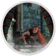 Vampire Hunter Round Beach Towel