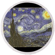 Van Goh Starry Night Round Beach Towel