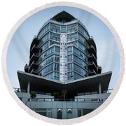 Vancouver Architecture Round Beach Towel