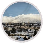 Vancouver Winterscape Round Beach Towel