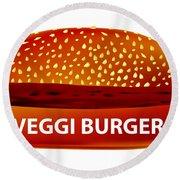 Veggi Burger Round Beach Towel