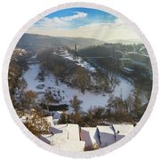 Veliko Turnovo City Round Beach Towel