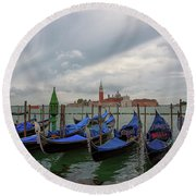 Venice Gondola's Grand Canal Round Beach Towel