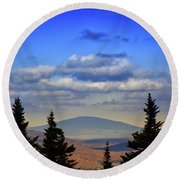 Round Beach Towel featuring the photograph Vermont From Mount Greylock Summit by Raymond Salani III