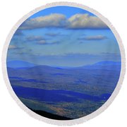 Round Beach Towel featuring the photograph Vermont From The Summit Of Mount Greylock 3 by Raymond Salani III