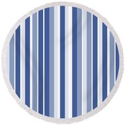 Vertical Lines Background - Dde605 Round Beach Towel