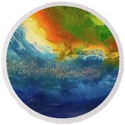 View From Space Round Beach Towel