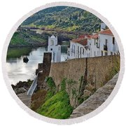 View From The Medieval Castle Round Beach Towel