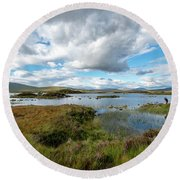 View In Glencoe, Scotland Round Beach Towel