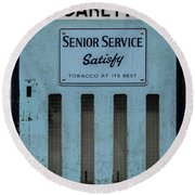 Senior Service Vintage Cigarette Vending Machine Round Beach Towel