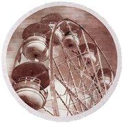 Vintage Ferris Wheel Round Beach Towel