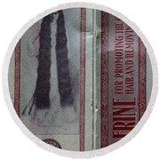 Vintage Hair Care Danderine 2 Round Beach Towel