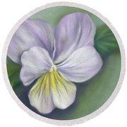 Viola Purple And Yellow Round Beach Towel