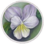 Viola Purple And Yellow Round Beach Towel
