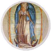 San Gabriel Mission - Nuestra Senora De Guadalupe Round Beach Towel