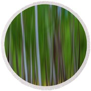 Visions Of Summer Round Beach Towel