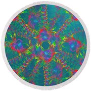 Round Beach Towel featuring the digital art Vortex by Vitaly Mishurovsky