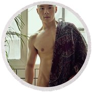 W Round Beach Towel
