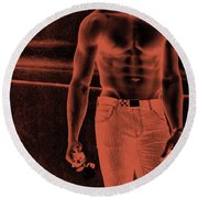 Waiting For You 3 Round Beach Towel