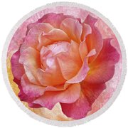 Warm And Crunchy Rose Round Beach Towel