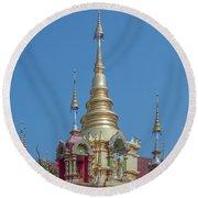 Round Beach Towel featuring the photograph Wat Ban Kong Phra That Chedi Pinnacle Dthlu0499 by Gerry Gantt