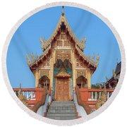 Round Beach Towel featuring the photograph Wat Nong Tong Phra Wihan Dthcm2639 by Gerry Gantt