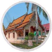 Wat Pa Chai Mongkhon Phra Ubosot Dthla0123 Round Beach Towel