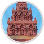 Round Beach Towel featuring the photograph Wat Pa Chedi Liam Phra Chedi Liam Buddha Images Dthcm2673 by Gerry Gantt