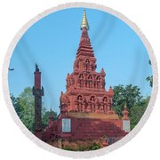 Round Beach Towel featuring the photograph Wat Pa Chedi Liam Phra Chedi Liam Dthcm2670 by Gerry Gantt