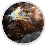 Watching Eagle Round Beach Towel