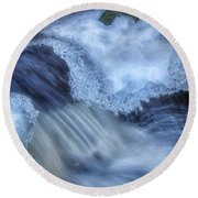 Water And Ice 3 Round Beach Towel
