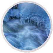 Water And Ice 6 Round Beach Towel