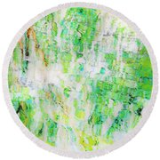 Water Colored  Round Beach Towel