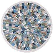 Water Mosaic Round Beach Towel