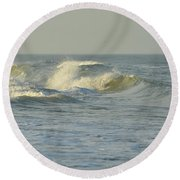 Round Beach Towel featuring the photograph Water Power by Jamart Photography
