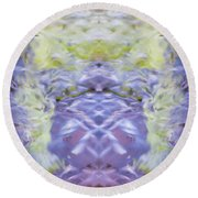 Water Ripples The Grass Round Beach Towel