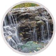 Waterfall @ Sharon Woods Round Beach Towel
